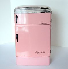 Wolverine Vintage Pink Tin Refrigerator