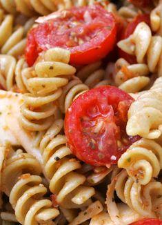 Double Tomato and Cheesy Pasta Salad