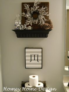 homey home design christmas bathroom decor