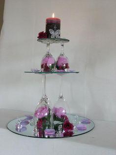 Sensational ideas wine glass centerpieces for weddings architecture wedding Wine Glass Centerpieces, Party Centerpieces, Wedding Decorations, Table Decorations, Wedding Ideas, Centrepieces, Budget Wedding, Wedding Table, Party Favors