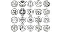 Choose a Mandala and discover what it reveals about your Life. Spiritual Symbols, Close Your Eyes, Mandala, Tatoos, Life, Chakra, Projects, Tela, Psicologia