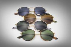 The complete camo family of #RayBanRound // Get to know them http://neverhi.de/l6b2