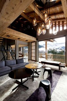 Modern cabin in the mountains