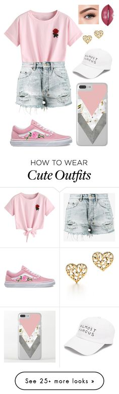 """""""Cute and casual outfit"""" by haileymadelyn1224 on Polyvore featuring WithChic, Ksubi, Vans, Nasaseasons, Morphe and Paloma Picasso"""
