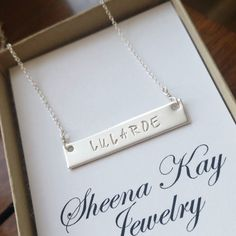 GIVEAWAY // This week's FB giveaway is a silver bar necklace! Enter to win! #facebook #giveaway #win #happytuesday #skj #sheenakayjewelry
