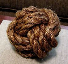 diy project: sailor's knot doorstop - maybe a program, since the doors on the hall slam shut