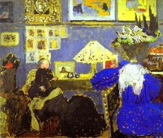 Lady in Blue,1895 by Édouard Vuillard
