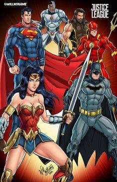 Justice League by WillNoName.deviantart.com on @DeviantArt