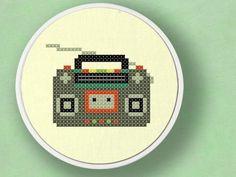 Radio Cross Stitch Pattern PDF File by andwabisabi on Etsy, $3.50