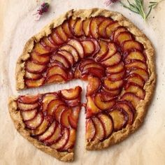 Rustic Plum & Lavender Galette, a beautiful vegan dessert with a sweet olive oil pastry recipe