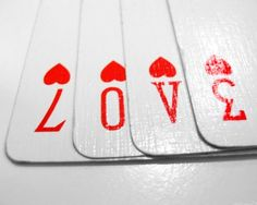 play card save the date photo idea -- just add your text! Great for those Vegas weddings!