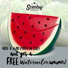 Host a $400 party in July with  Me and get a free #watermelon warmer!!! Contact me to host!   HTTPS://mainville.scentsy.us