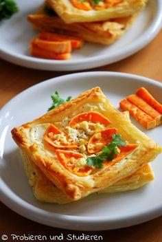 Süßkartoffel-Blätterteig-Ecken mit Feta Ein Blog mit Rezepten für die vegetarische Studentenküche - Bunt, gesund und schnell kochen