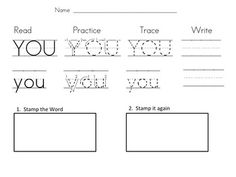 CAPITAL and lowercase stamping center. 32 Kindergarten Sight Words