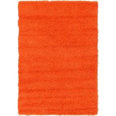 Tiger Solid Orange Shag Rug (4' x 6')   Overstock.com Shopping - The Best Deals on 3x5 - 4x6 Rugs