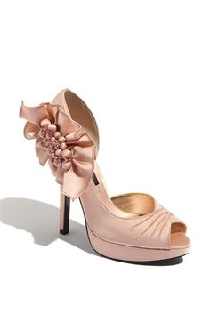Pink is a perfect vow renewal color and these shoes are yummy!
