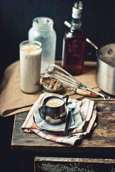 Warm Coconut Milk with Hazelnuts, Honey, & Bourbon | You should try this with some Califia Toasted Coconut Almondmilk
