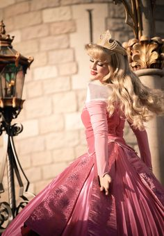 I want to be Princess Aurora's and Belle's face character when I get older... So bad. But I don't think I'll be tall enough for a princess.