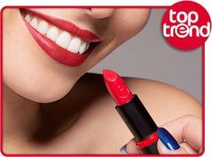"""hi beauties, this week's toptrend is a true classic that's always in fashion: red lips! to create this look, we recommend the longlasting lipstick """"14 adorable matt!"""" """"heart""""-Emoticon  which essence lipstick are you wearing today?  #essence #cosmetics #lips #lipstick #redlips #red"""
