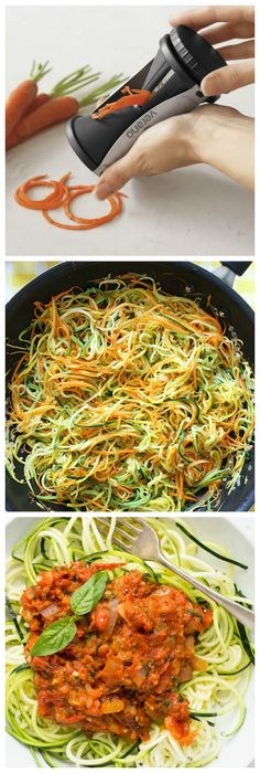 Verano® Vegetable Spiralizer - Perfect Julienne Peeler for Low Carb Raw Healthy Vegetable Meals.