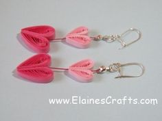 Quilled Heart Earrings with a tutorial