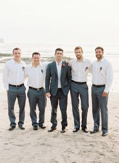formal beach wedding groom look #groom #groomsmen #weddingchicks http://www.weddingchicks.com/2014/03/05/beach-town-wedding/