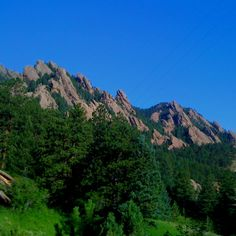 Flatirons over looking Boulder