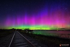 Astrophotographer Mike Taylor sent in a photo of an intense aurora flare-up on Sept. 12, 2013, taken from unused train tracks along Unity Pond in central Maine.