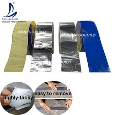 Cheap Aluminum Foil Self Adhesive Butyl Rubber Super Waterproof Sealing Tape For Roof & Balcony