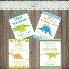 Printable Dinosaur Valentine Cards by punkydoodlekids on Etsy… Valentine Cards, Valentine Day Crafts, Be My Valentine, Holiday Crafts, Dinosaur Valentines, Classroom Treats, Doodle Designs, Card Stock, Printables