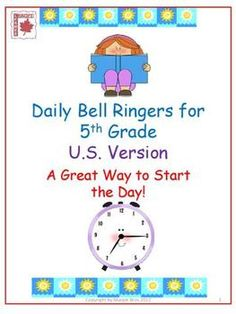 Daily Bell Ringers for 5th Grade - math, vocabulary, spelling, etc. prompts for each day of the school year, with answer key.  $