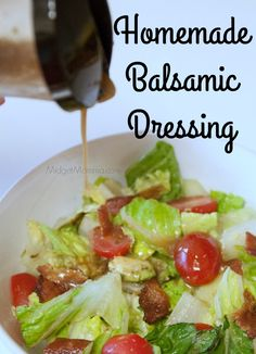 Skip the store bought and make this Homemade Balsamic Dressing. So easy to do with fresh ingredients and just a few minutes of time and it is done!