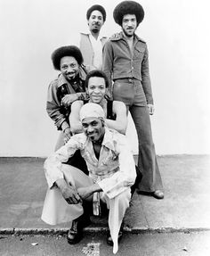 The Meters from New Orleans, including Cyril and Art Neville.