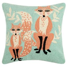 These handmade hook rugs are made to last years with vivid details and color. These functional and yet versatile Beegle Fox Wool Throw Pillow are meticulously crafted and ready to display. Made of New Zealand wool yarn and finished with cotton canvas backing for durability. These rugs will fill your home with idyllic holiday scenery as well as everyday occasions.
