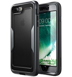 i-Blason iPhone 8 Plus Case [Heavy Duty Protection] [Magma Series] Shock Reduction / Full body Bumper Case with Built-in Screen Protector for iPhone 7 Plus 2016 / iPhone 8 Plus 2017 (Black)