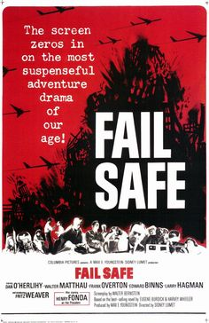 Fail Safe based on the book of the same name. It came out approx. the same time as Dr. Strangelove and is a serious version of Dr. Strangelove whch was based on a book Red Alert.
