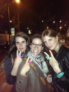 The street are full of people wearing Scicche's Collection! Claudia,Alice, Viviana wearing multicolor rings of Floral Collection by Scicche  www.scicche.it