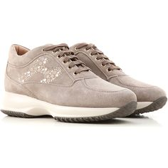 Hogan Shoes and Sneakers from the Latest Collection. Hogan Women's Shoes are available online in a wide selection at the Raffaello Network Store. Fashion Details, Suede Leather, Studs, Lace Up, Sneakers, Womens Fashion, Shopping, Women's Shoes, Italy