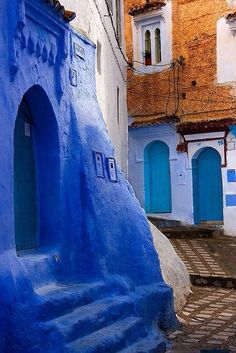 Chefchaouen by Daniel Source: Marrakesh, Places Around The World, Travel Around The World, Morocco Chefchaouen, Mekka, Blue City, Agadir, Morocco Travel, Islamic Architecture