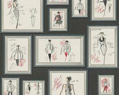 Karl Lagerfeld Wallpaper, Wallpaper Ireland, Wallpaper Dublin Karl Lagerfeld, Wallpaper Paste, Room Wallpaper, Wallpaper Roll, Michael Michalsky, Quirky Wallpaper, Designer, Gallery Wall, Wall Art