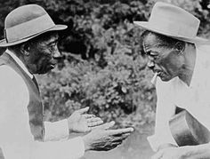 Mississippi John Hurt and Son House in the mid-1960s.