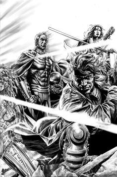 Bruises and Black Eyes, X-Men by Lee Bermejo