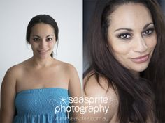 The gorgeous Sarah, before and after. Click to the blog post for a slideshow of images