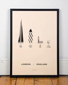 Poster Paris Londre / Inspiré des villes du monde / City Screenprints