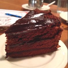 Chocolate dobash cake at King's Hawaiian Restaurant, Torrance