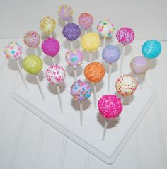 Colorful Cake Pops ~NutMeg Confections