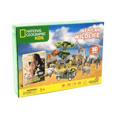 National Geographic African Wildlife Puzzle - Little Passports Subscriptions For Kids, Little Passports, Stem Skills, Mysteries Of The World, Curious Kids, National Geographic Kids, Science Kits, Gifted Kids, Gifts For Nature Lovers