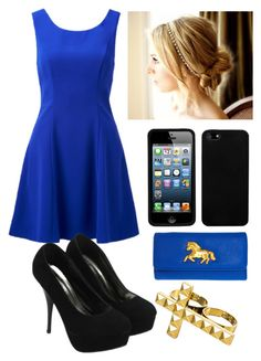 """""""#24 Royal Blue"""" by rosaisela-98 on Polyvore featuring moda, Forever New, ASOS y NLY Accessories"""