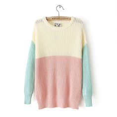 Pastel Color Pullover Sweater