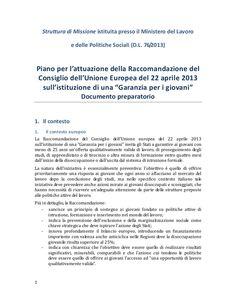 Garanzia per i giovani by Alberto Cardino - AGEVOFACILE via slideshare